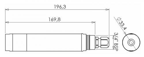 Rozměry snímače ESKO12-Z